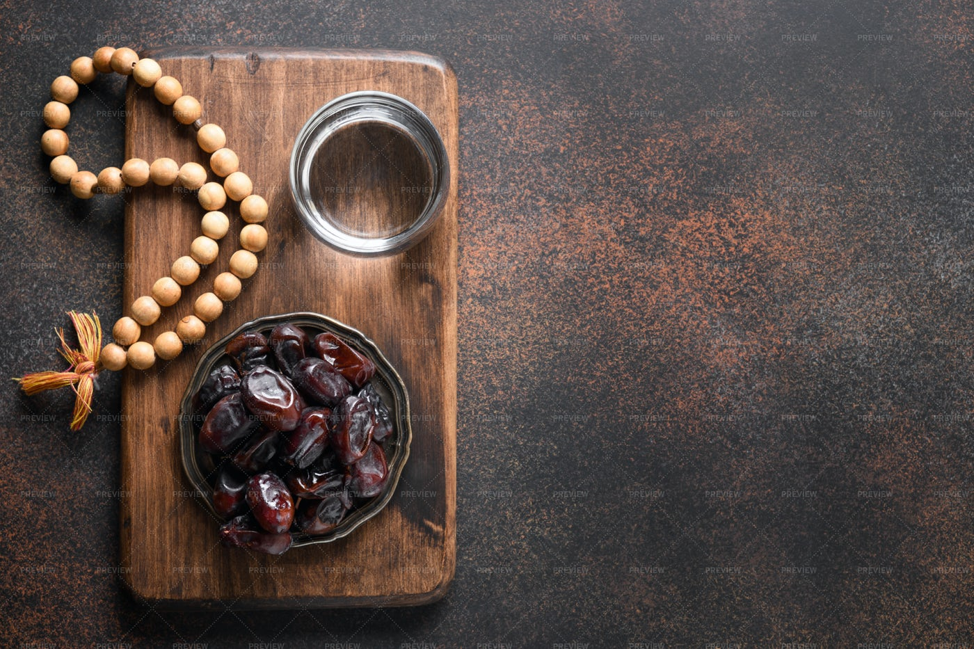 Dates In Bowl For Ramadan: Stock Photos