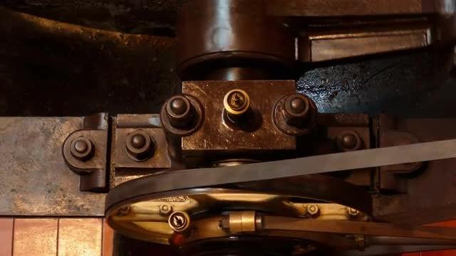 Industrial Flywheel In Operation: Stock Video