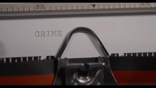 The Word Crime Being Typed: Stock Video