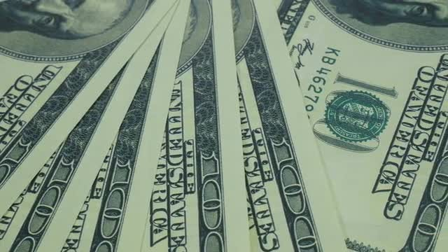 US Dollar Bills On Table: Stock Video