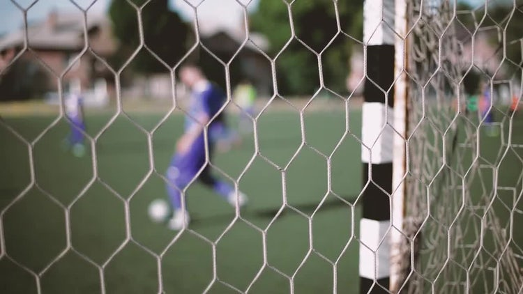 A View Through The Goal Net: Stock Video