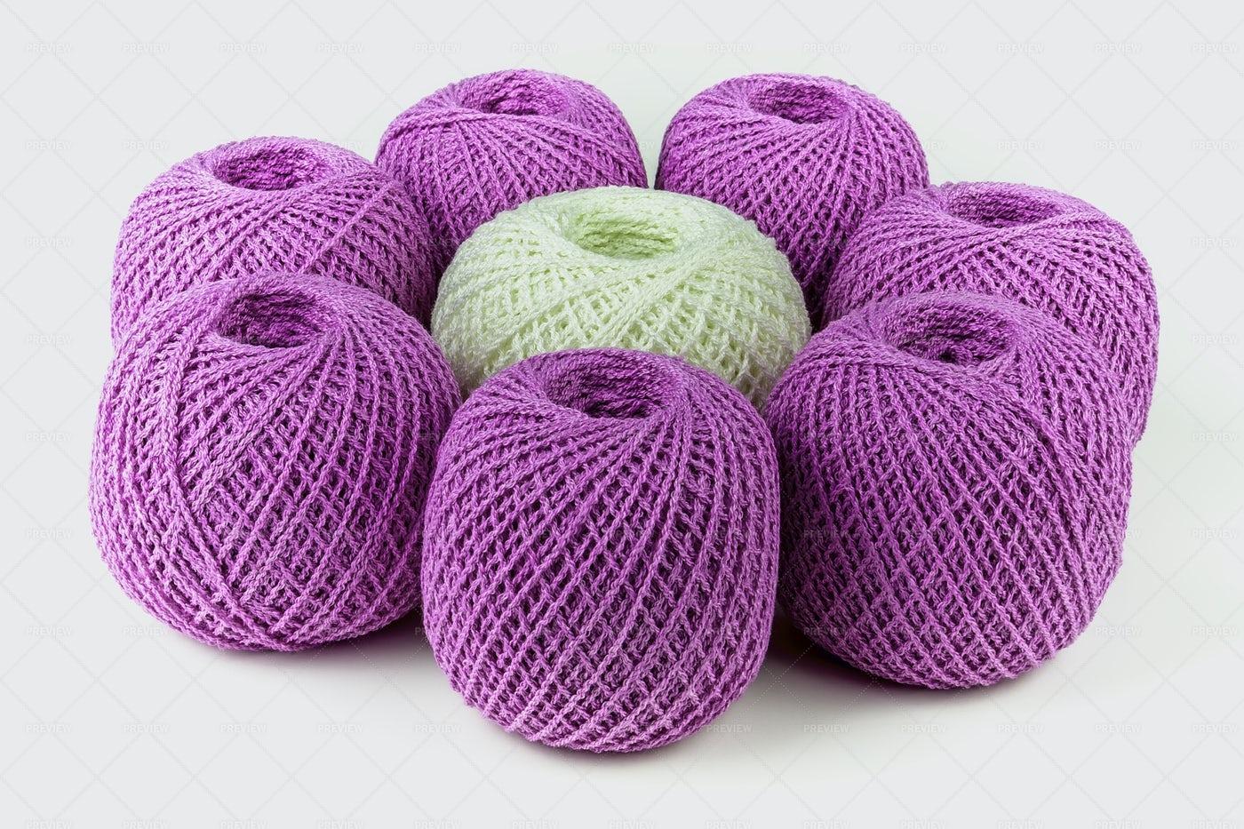 Colorful Ball Of Yarn: Stock Photos