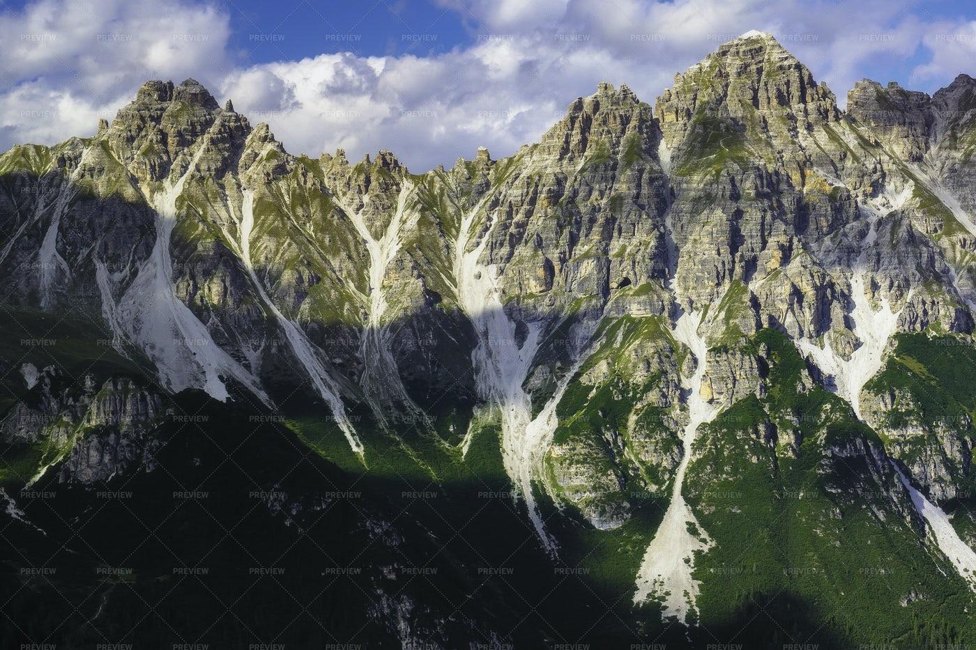 View Of The Austrian Alps: Stock Photos