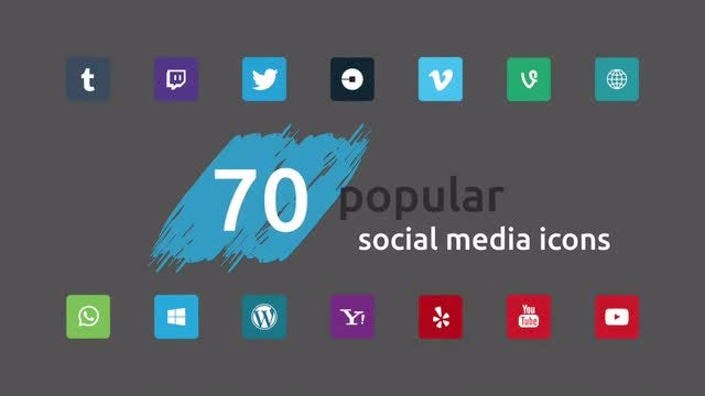Social Media Icons Pack 1: Stock Motion Graphics
