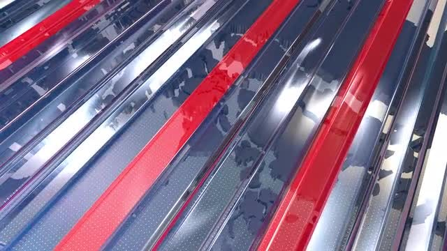 News Background - Red-Blue Glass : Stock Motion Graphics