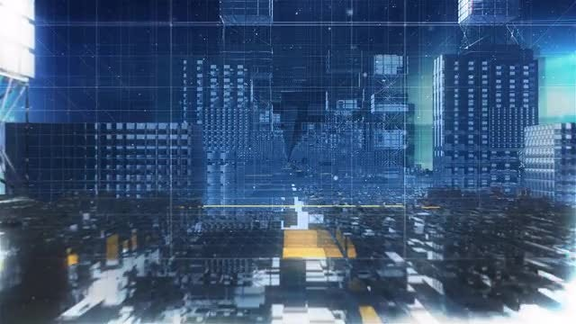 Broadcast Blue News Background: Stock Motion Graphics