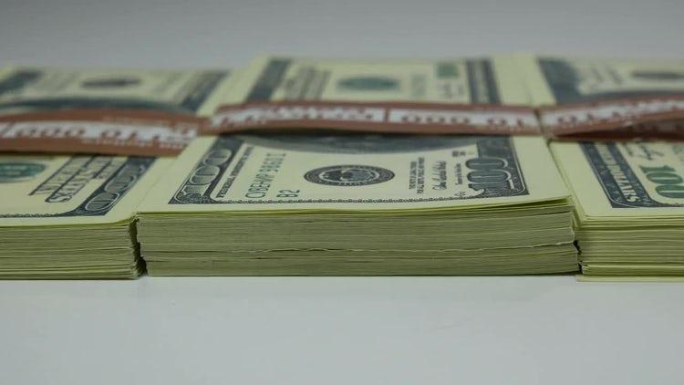 US Dollar Bills On Table : Stock Video