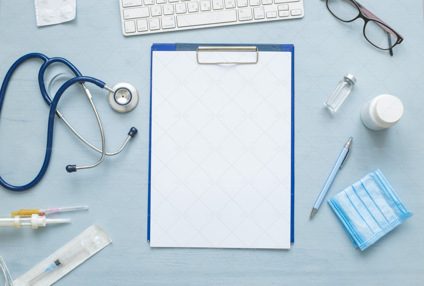 Workspace Of Doctor: Stock Photos
