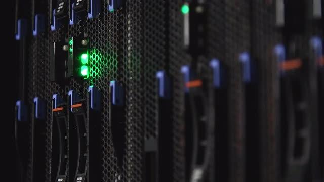 Close-up Shot Of Data Disks: Stock Video