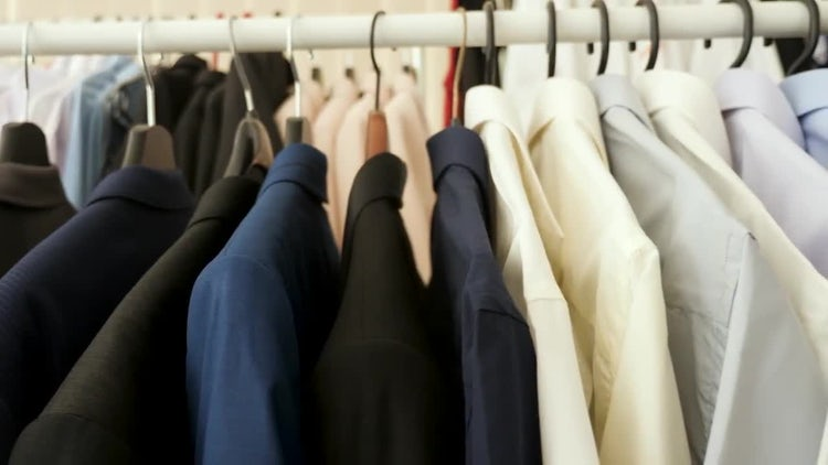 Male Clothes On A Hanger – Stock Video | Motion Array Free Download