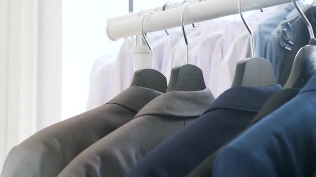 Clothes On A Hanger: Stock Video