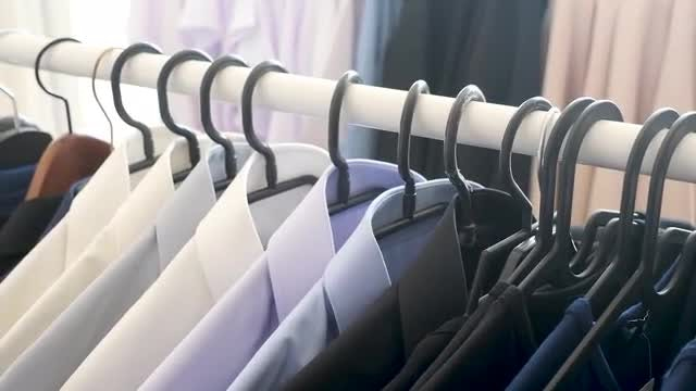 Rack Of Men's Business Suits : Stock Video