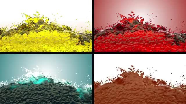 Splashes Of Liquids Pack : Stock Motion Graphics