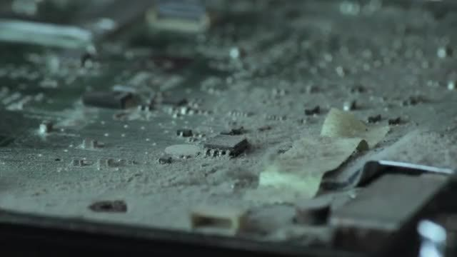 Dusting Off A Dirty Motherboard : Stock Video