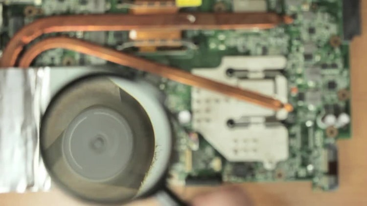 Dirty  Fan On Magnifying Glass: Stock Video