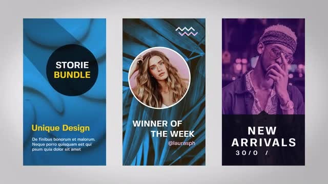 Instagram Stories & Posts: After Effects Templates
