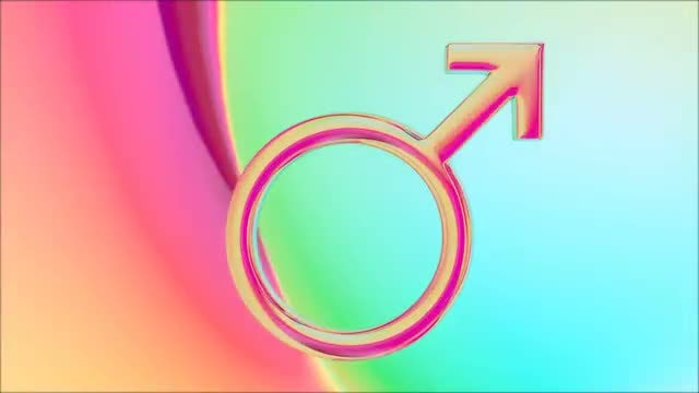 Retro Male Symbol: Stock Motion Graphics