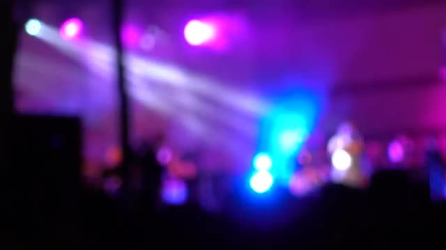 Outdoor Music Concert At Night : Stock Video