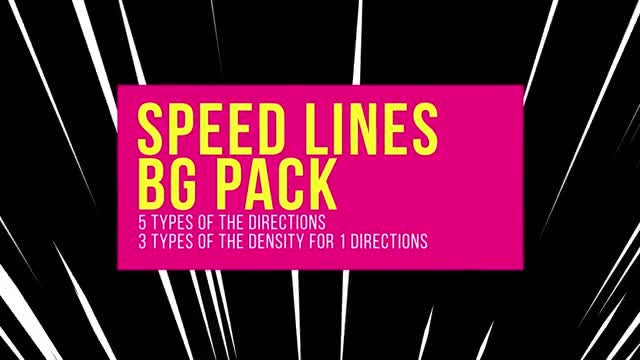 Speed Lines Background Pack: Stock Motion Graphics