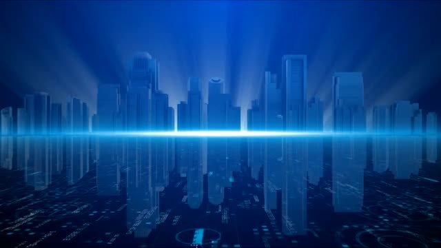 Elegant Buildings Business Cityscape Background: Stock Motion Graphics