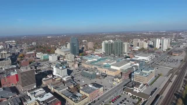 Aerial Shot Of Expansive City: Stock Video