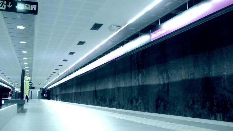 Subway Train And Passengers: Stock Video