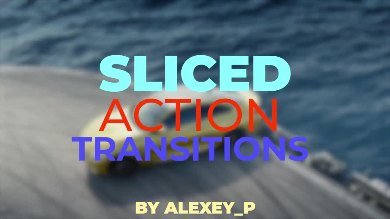 Sliced Action Transitions - Premiere Pro Templates 96787