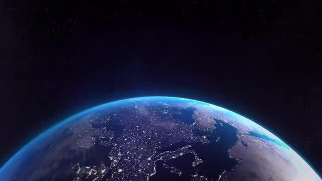 Earth Bottom Lights 01: Stock Motion Graphics
