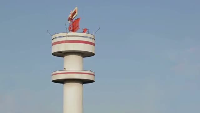 Airport Tower In Hamburg: Stock Video