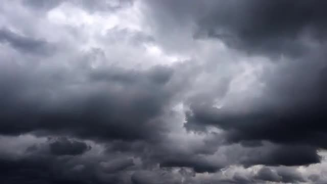 Dark, Stormy Cinematic Clouds: Stock Video