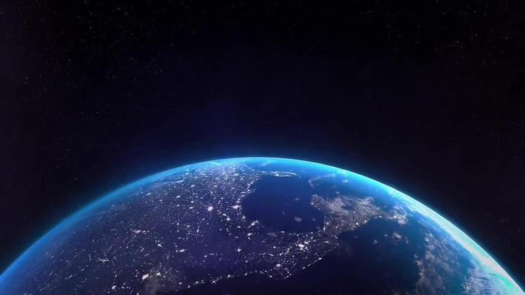 Earth Bottom Lights 02: Stock Motion Graphics