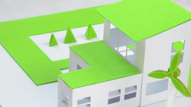 Model Of Green Home: Stock Video