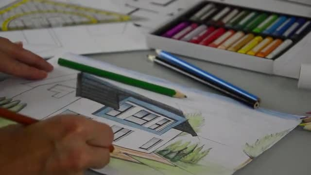 Architect Completing The Plants Plan: Stock Video