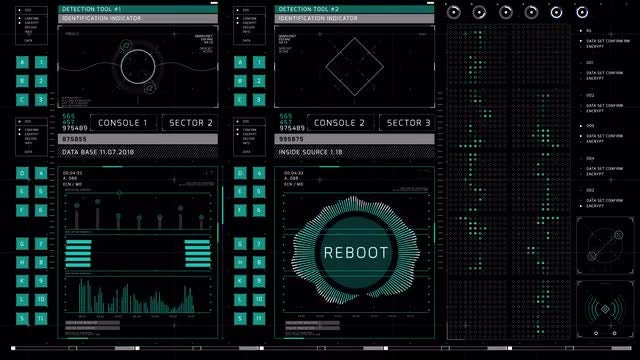 Complex HUD Display: Stock Motion Graphics