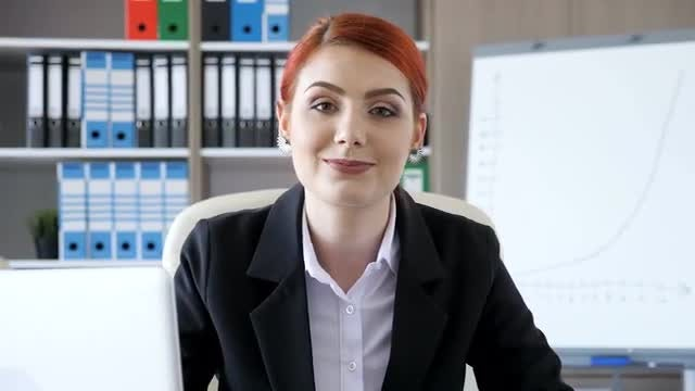 Businesswoman Smiling For The Camera: Stock Video