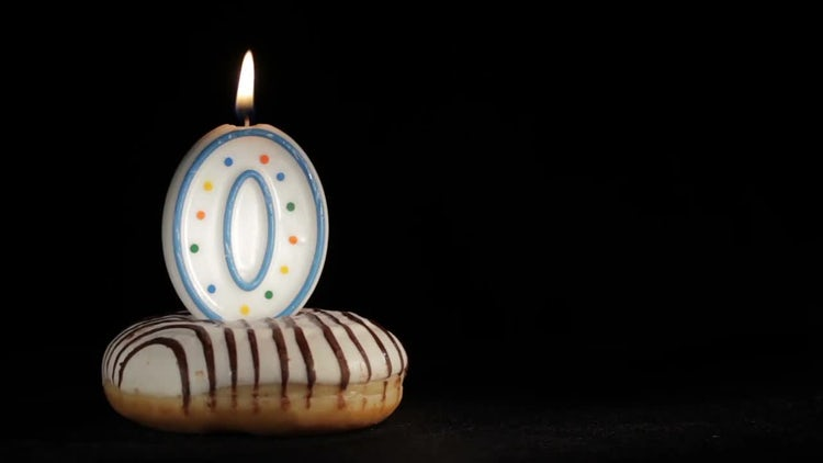 Birthday Cake With Large Candle: Stock Video