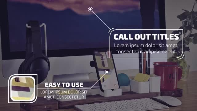 Callout Titles 4k: After Effects Templates