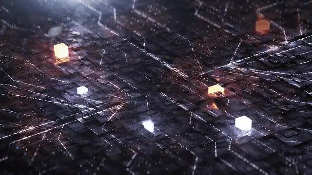 Neon Circuit Board : Stock Motion Graphics