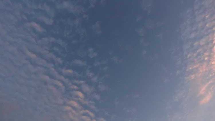 Cirrocumulus Clouds Sunset Timelapse : Stock Video