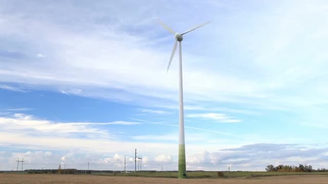 Wind Turbine In The Field: Stock Video