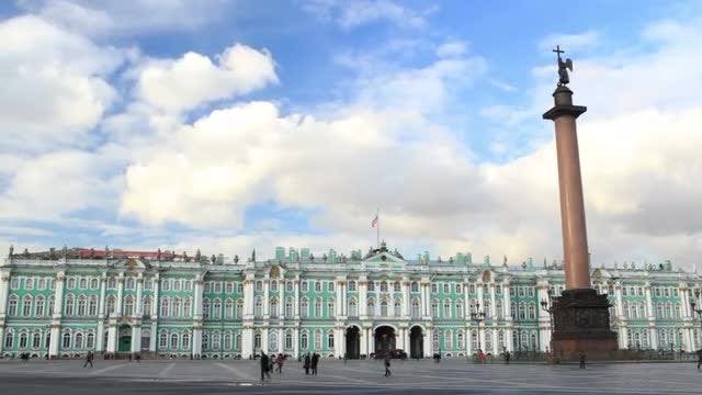 Winter Palace - Alexander Column St. Petersburg: Stock Video