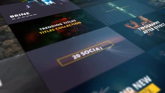 25 Modern Titles 4K: Motion Graphics Templates