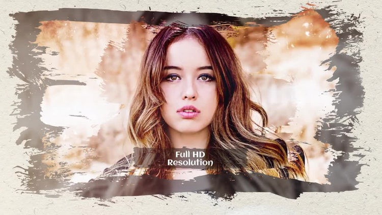 Slideshow Elegant Brush: After Effects Templates