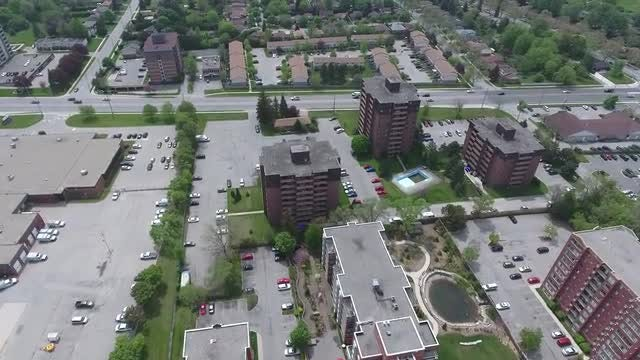 Aerial View Of Residential  Complex : Stock Video