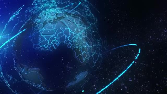 Globe Blue News Background: Stock Motion Graphics
