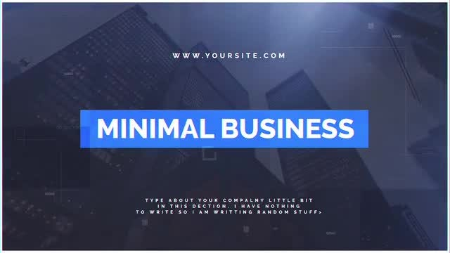 Minimal Business: After Effects Templates