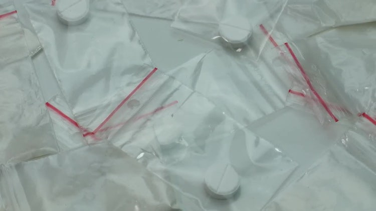 Packets Of Cocaine And Tablets: Stock Video