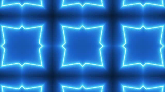 Neon Kaleidoscope Background: Stock Motion Graphics