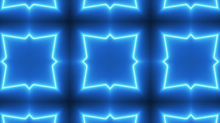 Neon Kaleidoscope Background: Motion Graphics