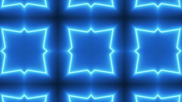 Neon Kaleidoscope Background: Stock Motion Graphics